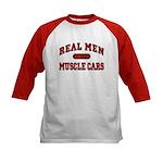 Real Men Drive Muscle Cars Kids Baseball Jersey
