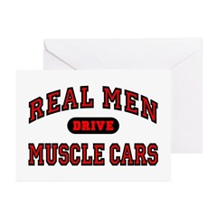 Real Men Drive Muscle Cars Greeting Cards (20 Pk.)
