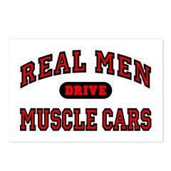 Real Men Drive Muscle Cars Postcards (8 Pack)