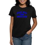 Real Men Drive Muscle Cars II Women's Black Tee