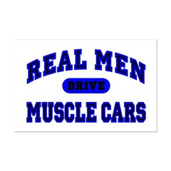 Real Men Drive Muscle Cars II Posters