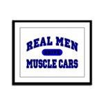 Real Men Drive Muscle Cars II Framed Panel Print