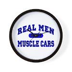 Real Men Drive Muscle Cars II Wall Clock