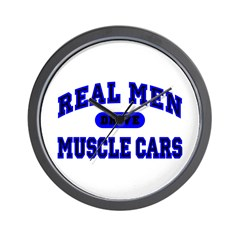 Real Men Drive Muscle Cars II Wall Clock