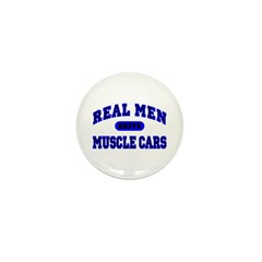 Real Men Drive Muscle Cars II Mini Button (10 pk.)