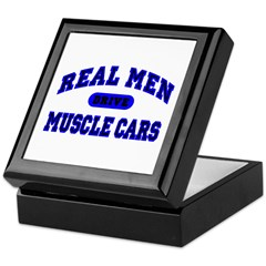 Real Men Drive Muscle Cars II Keepsake Box