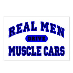 Real Men Drive Muscle Cars II Postcards (8 Pack)