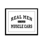 Real Men Drive Muscle Cars III Framed Panel Print
