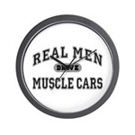 Real Men Drive Muscle Cars III Wall Clock