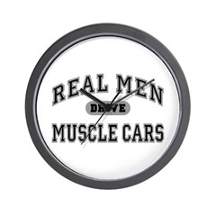 Real Men Drive Muscle Cars III Wall Clock
