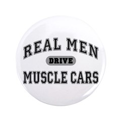 Real Men Drive Muscle Cars III 3.5 Button (100 pk)