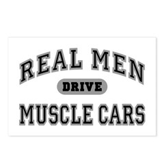 Real Men Drive Muscle Cars III Postcards (8 Pack)