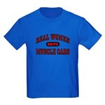 Real Women Drive... Kids Dark Colored T-Shirt