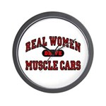 Real Women Drive Muscle Cars Wall Clock