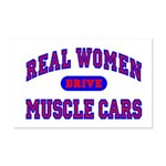 Real Women Drive Muscle Cars II Mini Poster Print