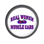 Real Women Drive Muscle Cars II Wall Clock