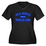 Real Women...III Womens Plus Size V-Neck Black Tee