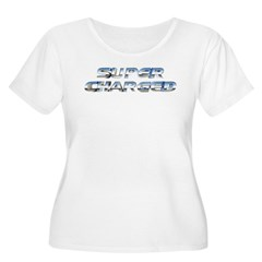 Super Charged Women's Plus Size Scoop Neck T-Shirt