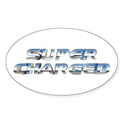 Super Charged Oval Decal