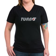 Turbo Women's V-Neck Grey T-Shirt