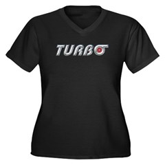 Turbo Women's Plus Size V-Neck Dark T-Shirt