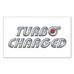 Turbo Charged Rectangle Sticker