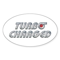 Turbo Charged Oval Decal