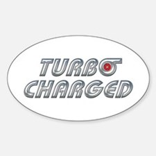 Turbo Charged Oval Stickers