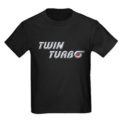 Twin Turbo Kids Black T-Shirt