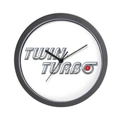 Twin Turbo Wall Clock