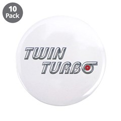 "Twin Turbo 3.5"" Button (10 pack)"
