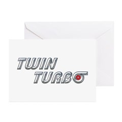 Twin Turbo Greeting Cards (Pk of 10)