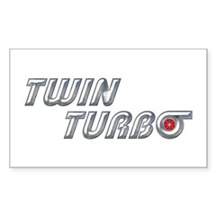 Twin Turbo Rectangle Decal