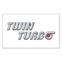 Twin Turbo Rectangle Decal