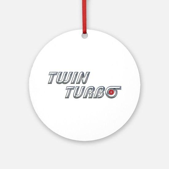 Twin Turbo Ornament (Round)