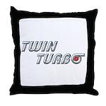 Twin Turbo Throw Pillow