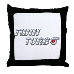 Twin Turbo Throw Pillow