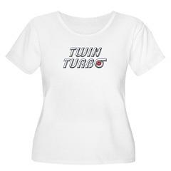 Twin Turbos Women's Plus Size Scoop Neck T-Shirt