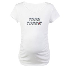 Twin Turbos Maternity T-Shirt