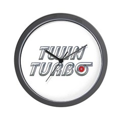 Twin Turbos Wall Clock