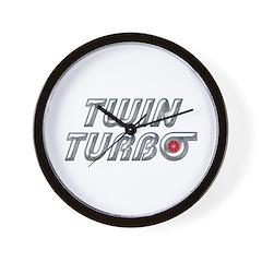 Twin Turbos Wall Clock