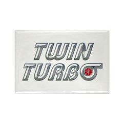 Twin Turbos Refrigerator Magnet