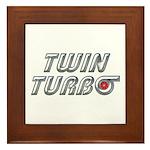 Twin Turbos Framed Tile