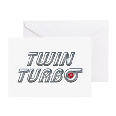 Twin Turbos Greeting Card