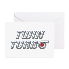 Twin Turbos Greeting Cards (Pk of 10)