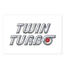 Twin Turbos Postcards (Package of 8)