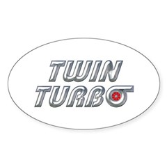 Twin Turbos Oval Decal