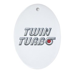 Twin Turbos Oval Ornament