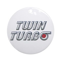 Twin Turbos Ornament (Round)