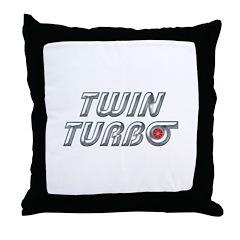 Twin Turbos Throw Pillow